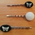 Bobby Pins ~ set of three ~ Black and white Cabochons ~ butterflies