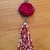 Red Rose and Beaded Tassel Necklace ~ comes on a ball chain