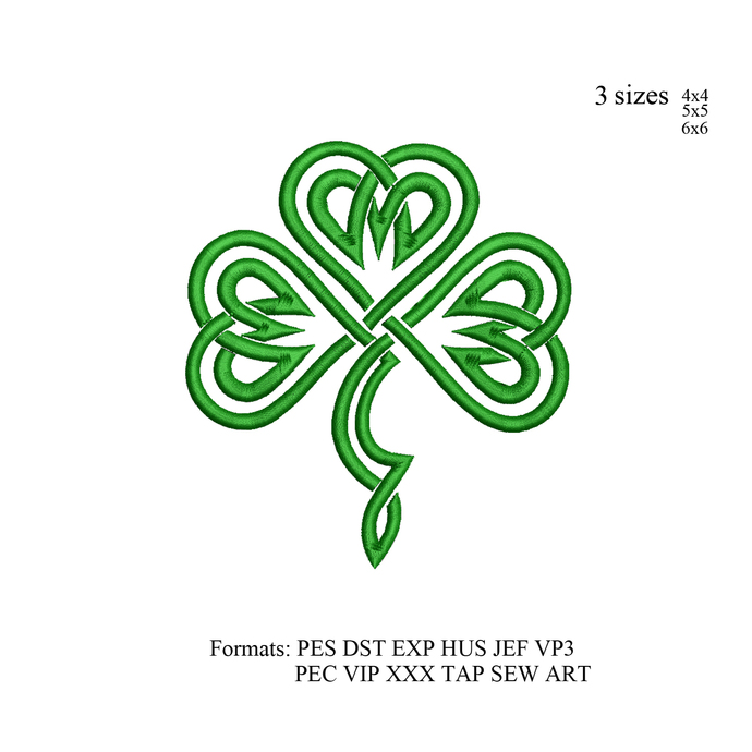 Irish celtic Knot, Celtic knot heart embroidery design embroidery pattern, Heart
