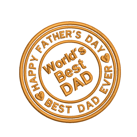 Fathers day stamp embroidery design,dad  Embroidery Design, Father love