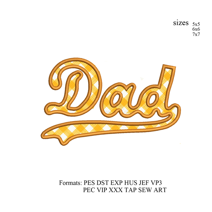Dad applique Embroidery design,dad Embroidery Design, Father love embroidery