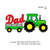 Dad Tractor applique Embroidery design,dad Embroidery Design, Father love