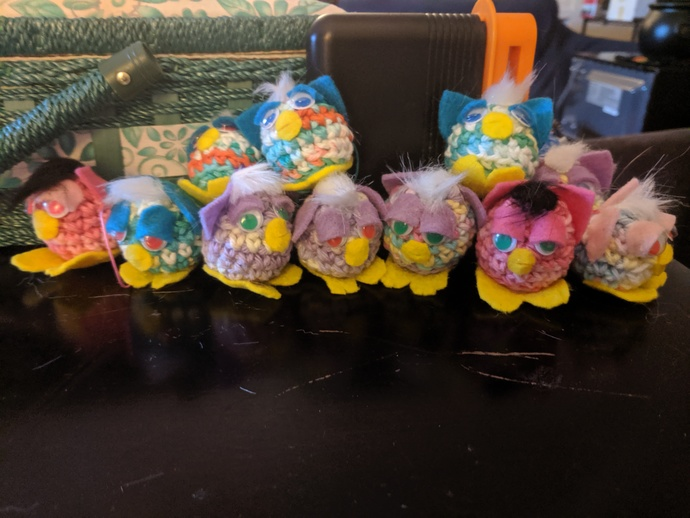 Tiny Nugget Furby Ornaments/Keychains