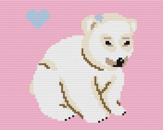 Sleepy Bear C2C Baby Blanket Free Crochet Pattern | 549x690