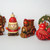 5 Vintage 1976 Hallmark Nostalgia Collection Christmas Ornaments with Wood Grain