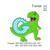 T-rex dinosaur applique birthday ,T-rex dinosaur biting a G embroidery design,