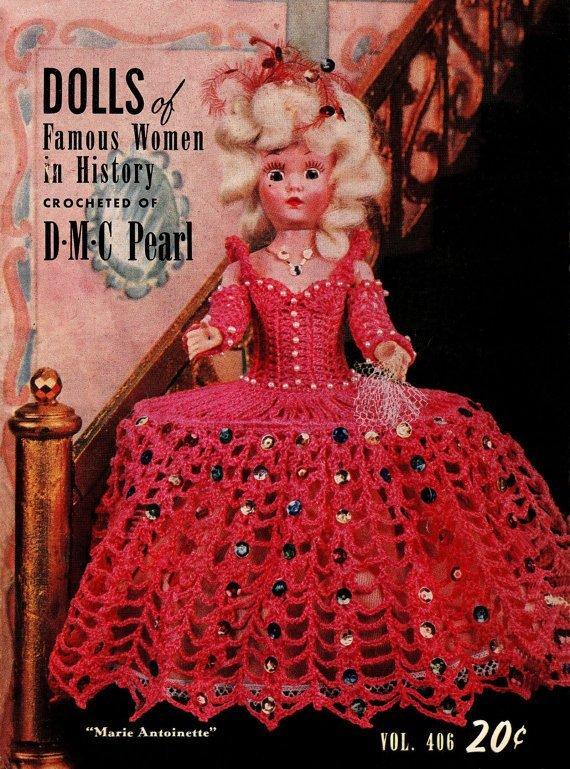 Instant PDF Digital Download Vintage Crochet Pattern 15 Page Booklet Dolls