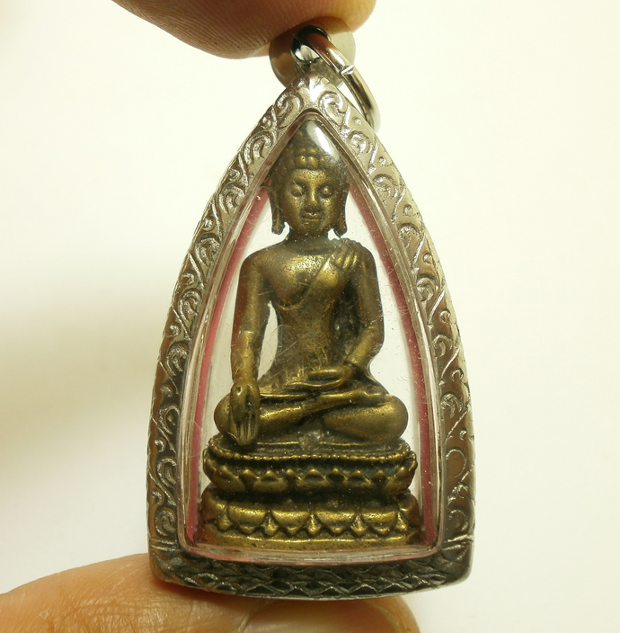 Thai Buddha pendant Phra Paireepinat of wat Borwornivate temple peaceful life