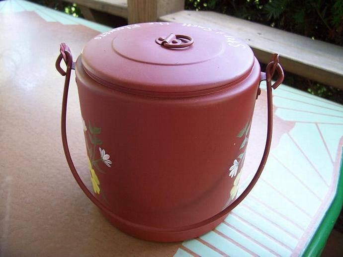 Flowered Camp Coffee Pot-Upcycled