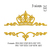 Crown Split name embroidery Design. Crowns design. Tiara embroidery. Princess