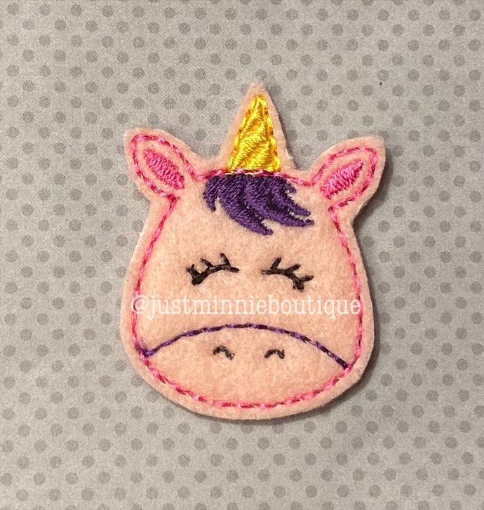 Unicorn 4 pc Feltie Set UNCUT