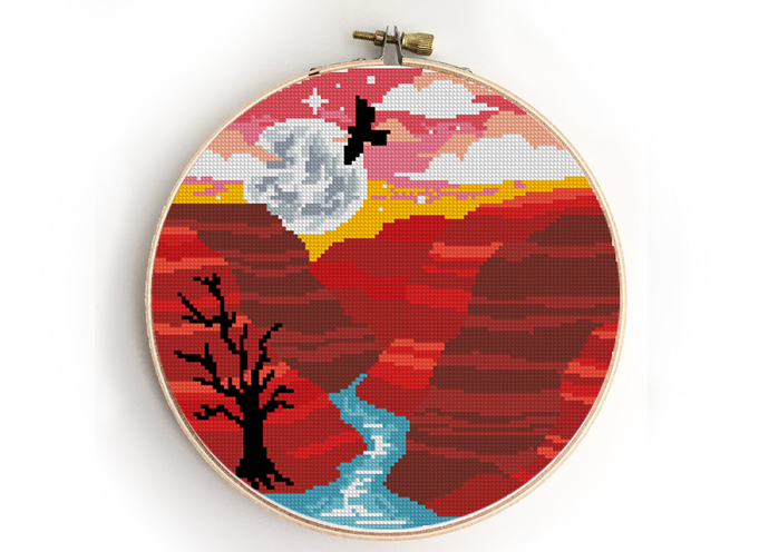 Grand Canyon national park counted cross stitch pattern - Cross Stitch Pattern