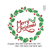 Mistletoe wreath with Merry Christmas text Embroidery Design,Text Saying