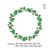 Mistletoe wreath Embroidery Design,Text Saying Embroidery Machine ,Christmas