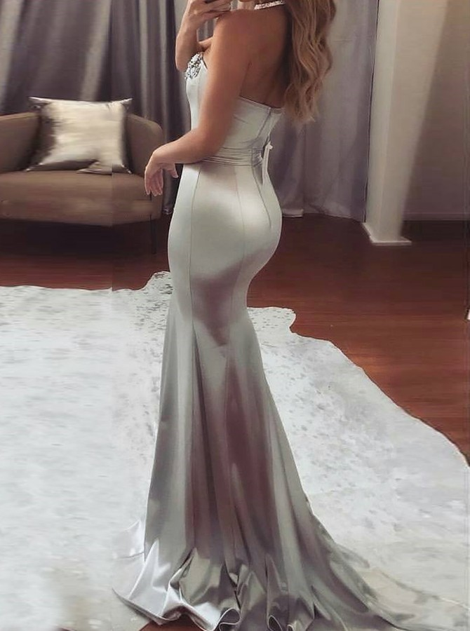 2020 Prom Dress Mermaid Sweetheart Evening Dresses Cheap Formal Gowns Hot G6752