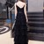 Black Prom Dress,A-line Prom Gown,Spaghetti Straps Prom Dress,Tulle Wedding Gown