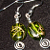 Green & Gold earrings