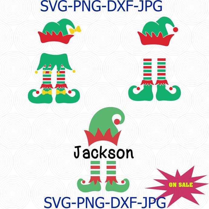 Elf Svg Christmas Svg Elf Monogram By Digital4u On Zibbet
