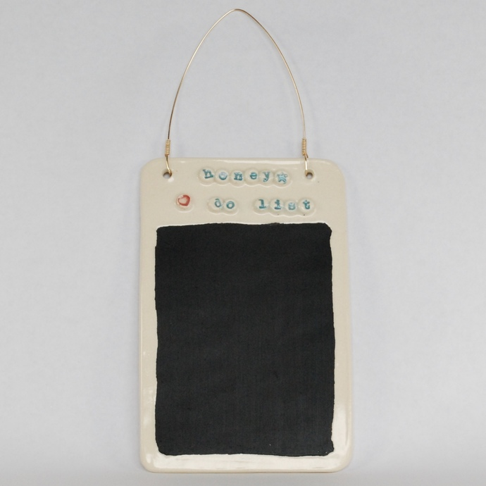 Handmade Ceramic Pottery Hanging Chalkboard To Do List Message Board