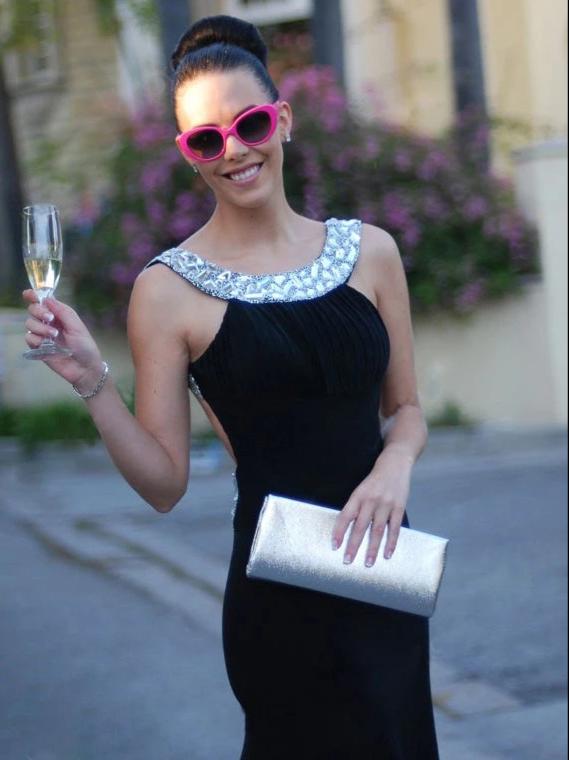 Sheath Black Prom Dress Modest Cheap Long Prom Dress, CD410