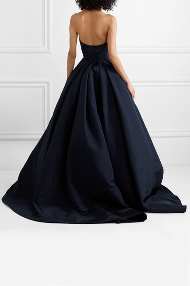 Navy Blue Satin A Line Side Slit Long Prom Dress Custom Made Prom Party Gowns