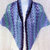 Shawlette, crocheted in Misty Lavender and Sage cozy acrylic yarn