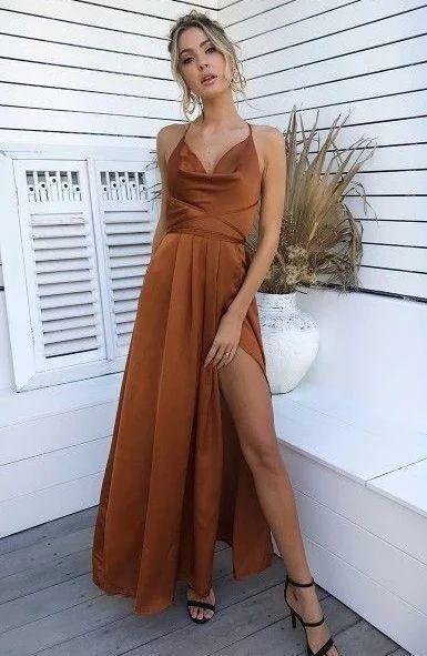 A-Line Long Prom Dress , Sexy Prom Dress