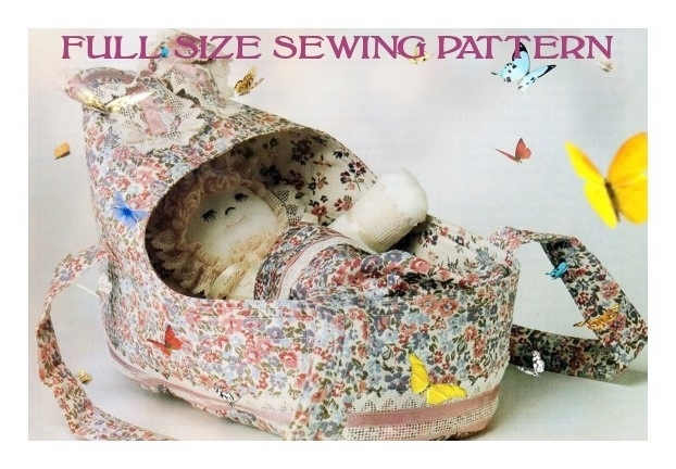 Instant PDF Digital Download Vintage Full Size Sewing Pattern Cute Baby Doll 29