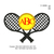 Tennis logo with applique circle embroidery design,embroidery pattern N° 989...3