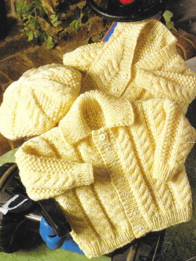 Instant PDF Digital Download Vintage Knitting Pattern Baby Babies Baby's