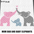 Mommy Daddy and Baby Elephants With Heart crochet graphgan blanket pattern; c2c,