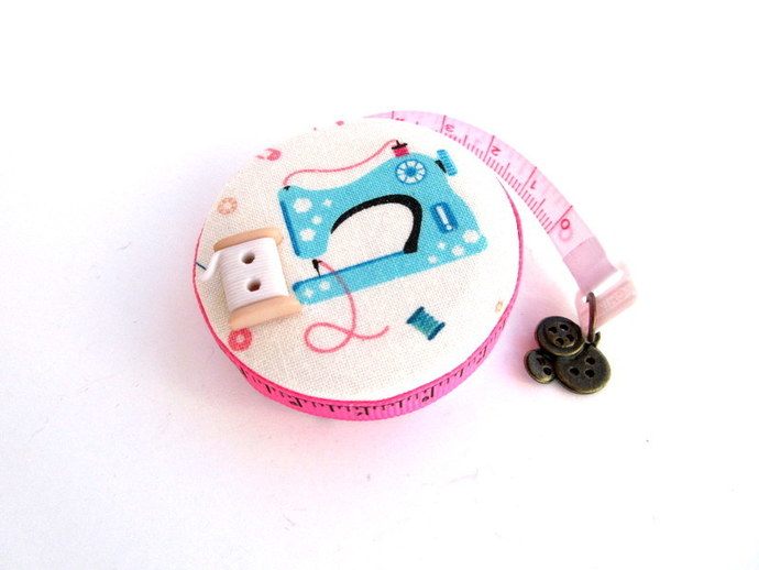 Measuring Tape Retro Sewing Machine and Suppliews Small RetractableTape Measure