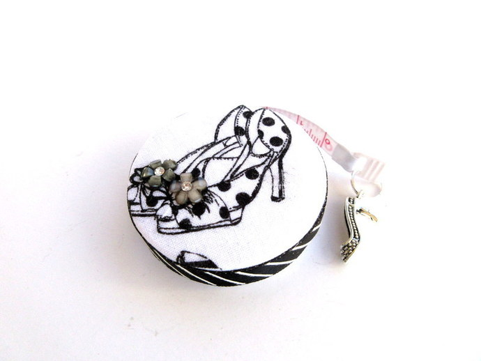 Retractable Measuring Tape with  High Heel Shoes Small Tape Measure