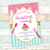 "Cupcake Baking Girl Birthday Party Invitation (5""X7""). Digital File- No Instant"