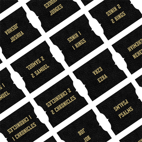 Black & Gold Printable Bible Tabs