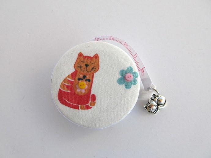 Retractable Measuring Tape Orange Cats Small Tape Measure