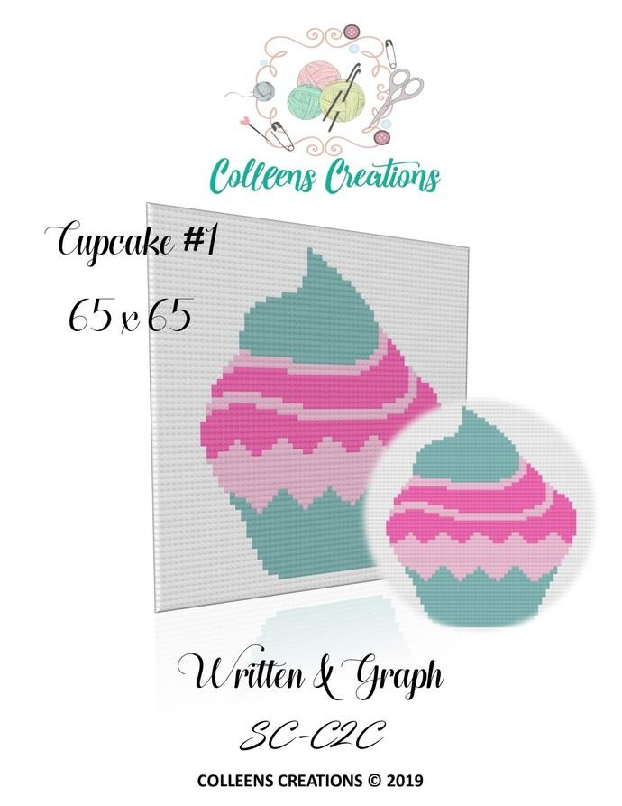 Cupcake #1 Crochet Written and Graph Design