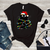 Black cat, christmas lights, cat, cat lover, cat lover gift, christmas