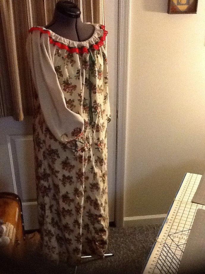 Semi-Budget Flannel Peasant Nightgown