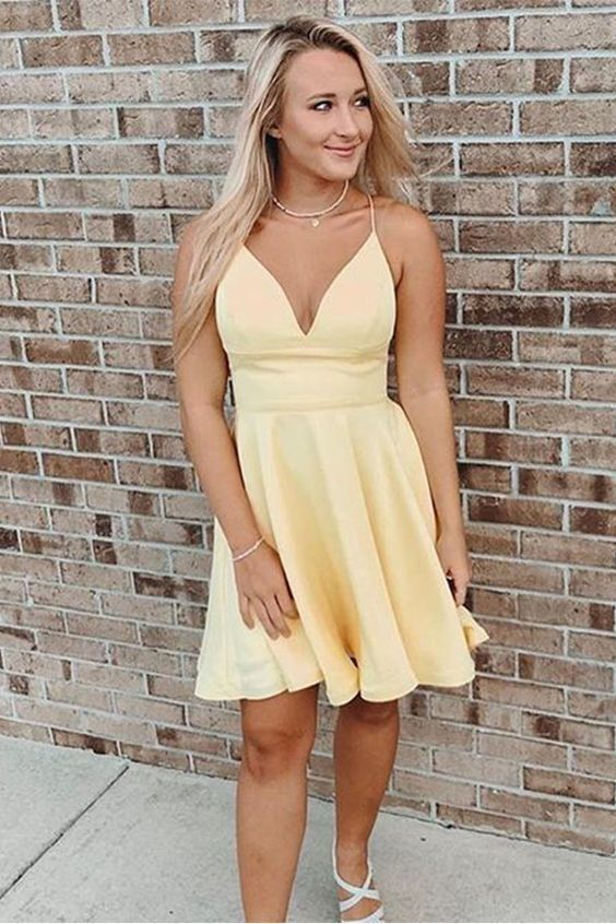 Yellow Homecoming Dresses, Back to School Clothes