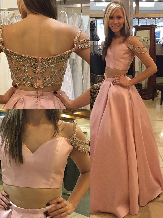 Beautiful Prom Dresses Two Pieces Long Prom Dress 2020 Evening Dress Hot Formal
