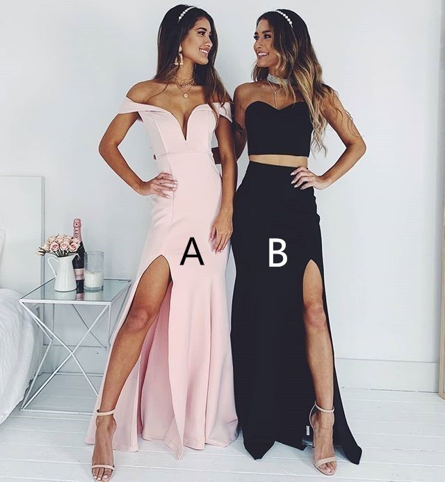 Charming Maxi Dress,Mermaid Split Side Evening Dress,2020 Prom Dress Formal