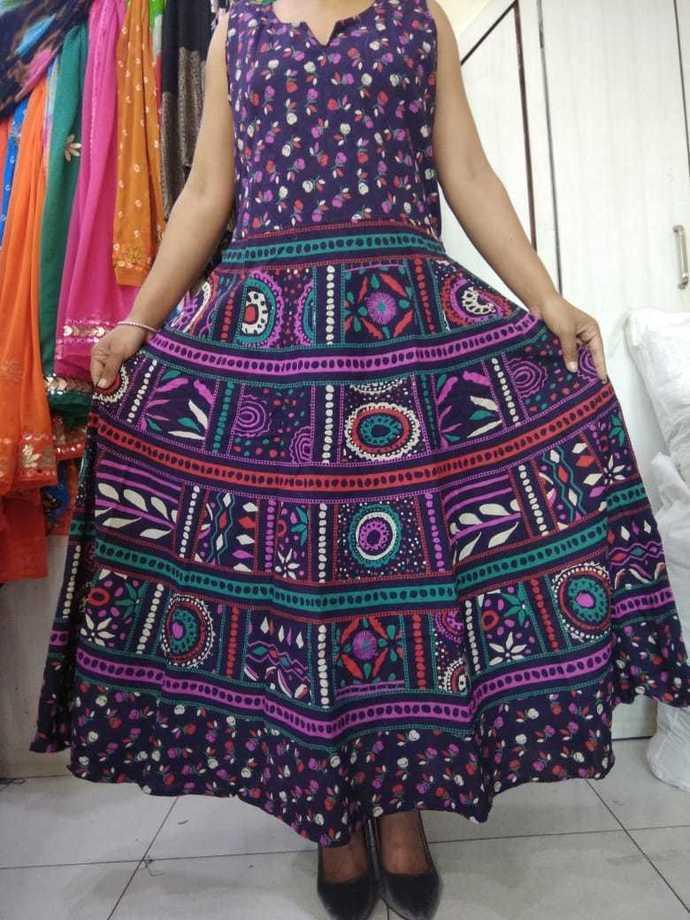 Kurti Cotton Printed Free Size KS-0014