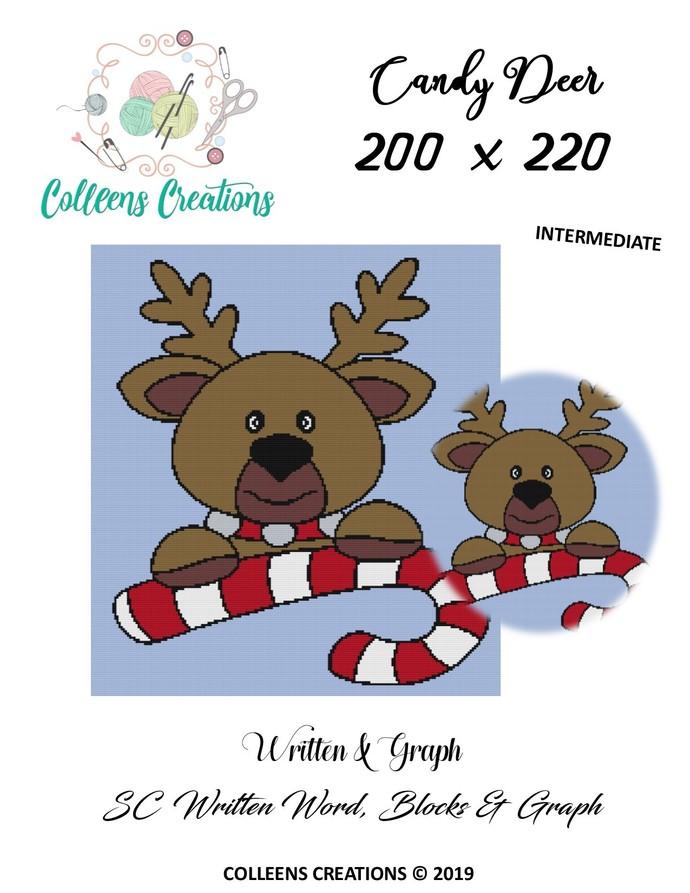 Candy Deer Crochet Written and Graph Design