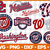 MLB bundle svg, Baseball svg, all team MLB svg, Sport svg