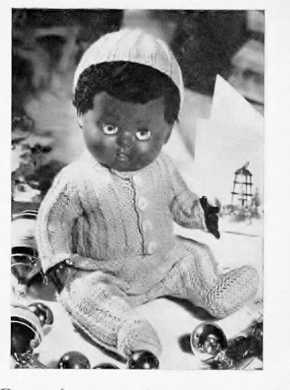 Instant PDF Digital Download Vintage Knitting Pattern Baby Doll's Clothes Vest