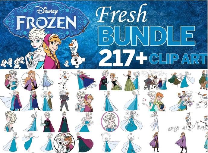 Frozen png, Frozen clipart, Frozen bundle clipart, christmas png