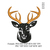 Deer head Embroidery design,Deer head embroidery pattern No 1142... 3 sizes