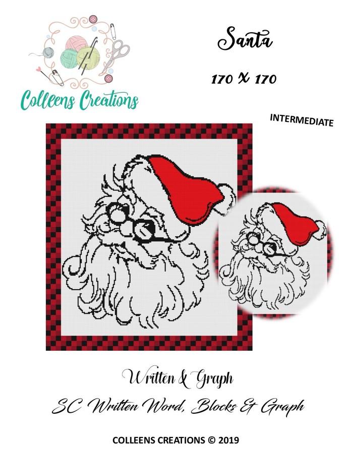 Santa Crochet Written and Graph Design