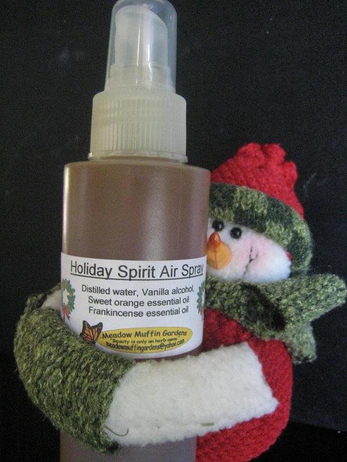 Holiday Room Freshening Spray, Frankincense & Sweet Orange, eco friendly
